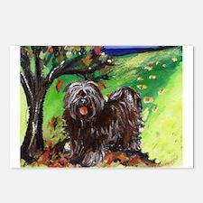 Tibetan Terrier Fall Autumn S Postcards (Package o