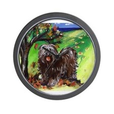 Tibetan Terrier Fall Autumn S Wall Clock
