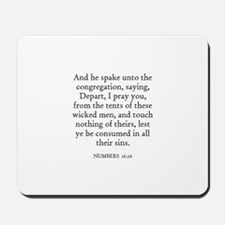 NUMBERS  16:26 Mousepad