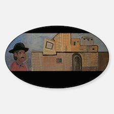 Southwestern Adobe Oval Decal