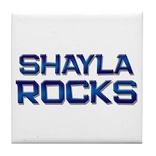 shayla rocks Tile Coaster