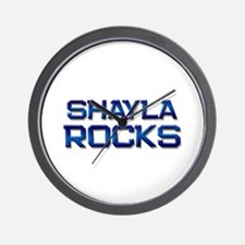 shayla rocks Wall Clock