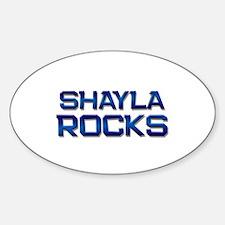 shayla rocks Oval Decal
