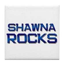 shawna rocks Tile Coaster