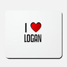 I LOVE LOGAN Mousepad
