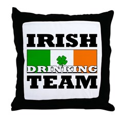 Irish Drinking Team Throw Pillow