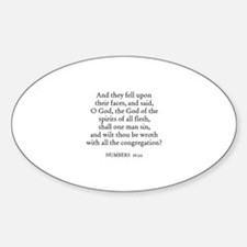NUMBERS 16:22 Oval Decal