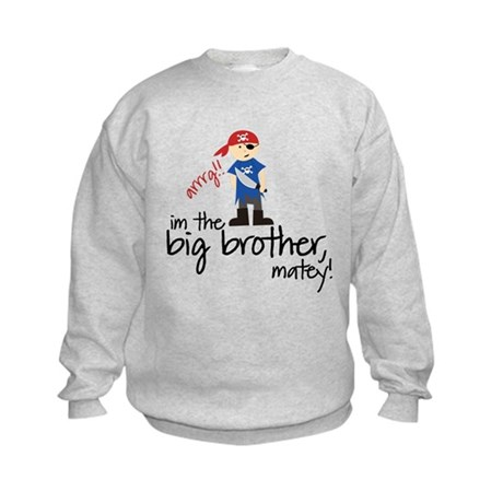 big brother shirt pirate Kids Sweatshirt