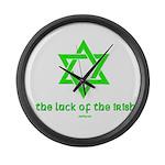 Luck of the Irish Jew Large Wall Clock