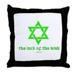 Luck of the Irish Jew Throw Pillow