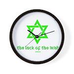 Luck of the Irish Jew Wall Clock