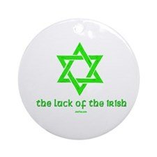 Luck of the Irish Jew Ornament (Round)