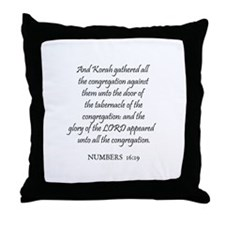 NUMBERS  16:19 Throw Pillow