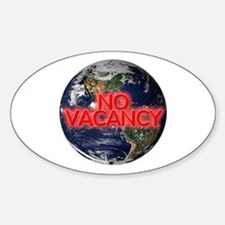No Vacancy - Oval Decal