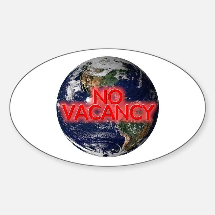 No Vacancy - Oval Decal