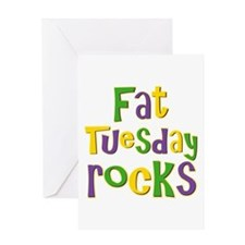 Fat Tuesday Rocks Greeting Card