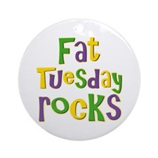Fat Tuesday Rocks Ornament (Round)