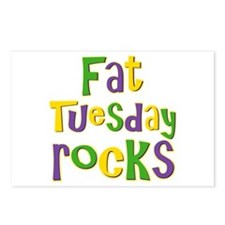 Fat Tuesday Rocks Postcards (Package of 8)