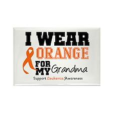 Leukemia Grandma Rectangle Magnet
