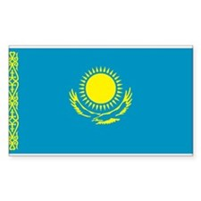Kazakh Flag Rectangle Decal