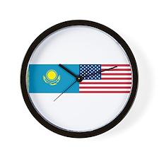 Kazakh and American Wall Clock