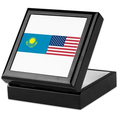 Kazakh and American Keepsake Box