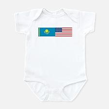 Kazakh and American Infant Bodysuit
