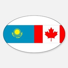 Kazakh Canadian Oval Decal