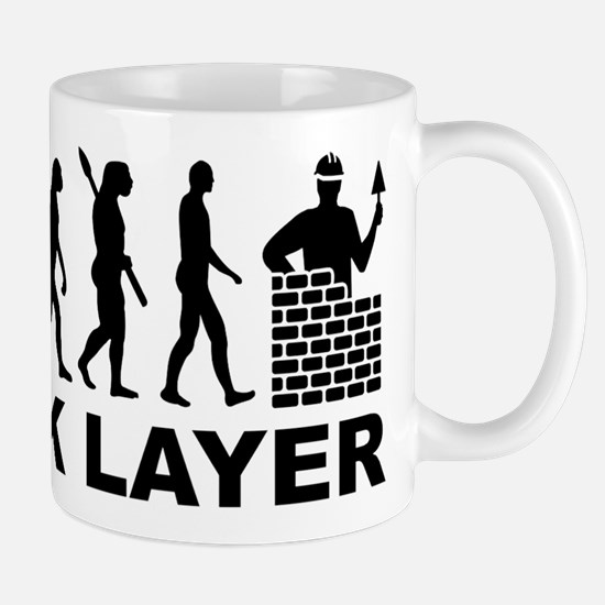 Evolution brick layer Mugs