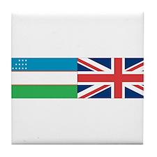 Uzbek and UK Tile Coaster