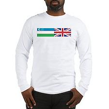 Uzbek and UK Long Sleeve T-Shirt