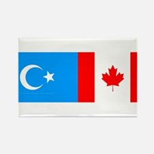 Uyghur and Canadian Flag Rectangle Magnet (100 pac