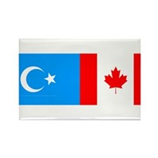 Uyghur and Canadian Flag Rectangle Magnet