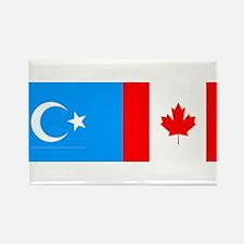 Uyghur and Canadian Flag Rectangle Magnet