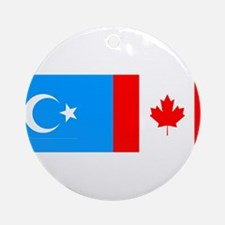 Uyghur and Canadian Flag Ornament (Round)