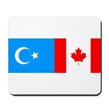 Uyghur and Canadian Flag Mousepad