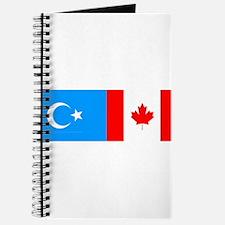 Uyghur and Canadian Flag Journal