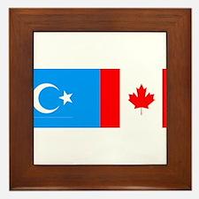 Uyghur and Canadian Flag Framed Tile