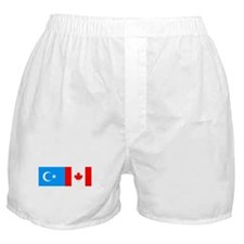 Uyghur and Canadian Flag Boxer Shorts