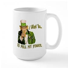 St Pats Pull my finger Mug