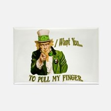 St Pats Pull my finger Rectangle Magnet