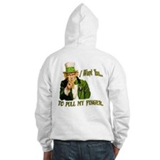 St Pats Pull my finger Hoodie
