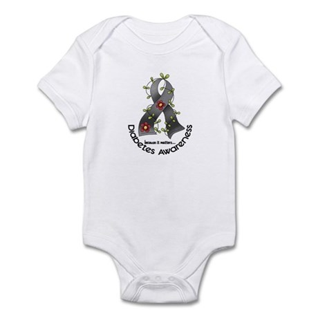 Flower Ribbon DIABETES Infant Bodysuit