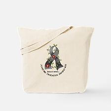 Flower Ribbon JUVENILE DIABETES Tote Bag
