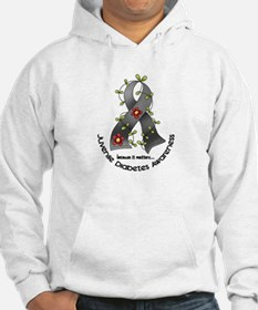 Flower Ribbon JUVENILE DIABETES Jumper Hoody