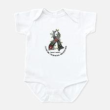 Flower Ribbon JUVENILE DIABETES Infant Bodysuit