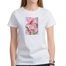 Cool Floral art painting pink Tee