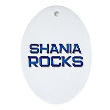 shania rocks Oval Ornament