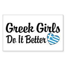 Greek Girls Do it Better Rectangle Stickers