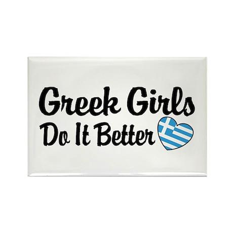 Greek Girls Do it Better Rectangle Magnet